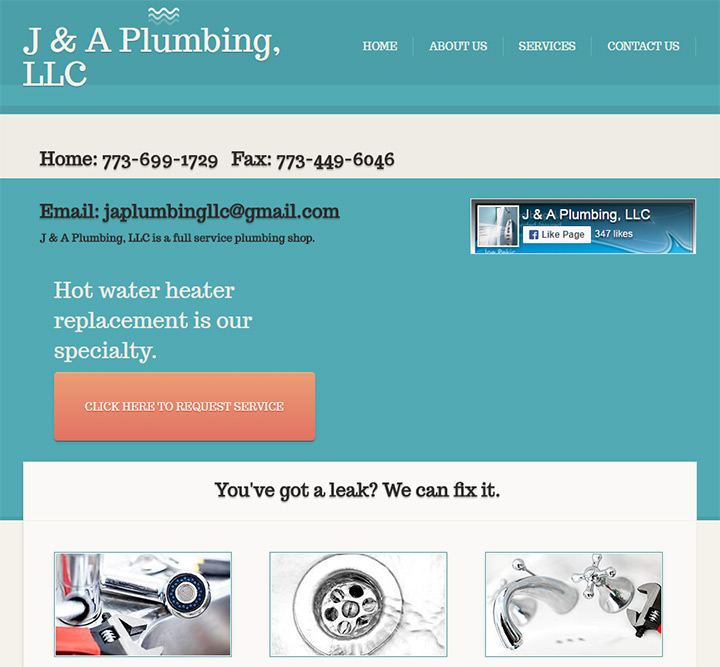 ja plumbing website