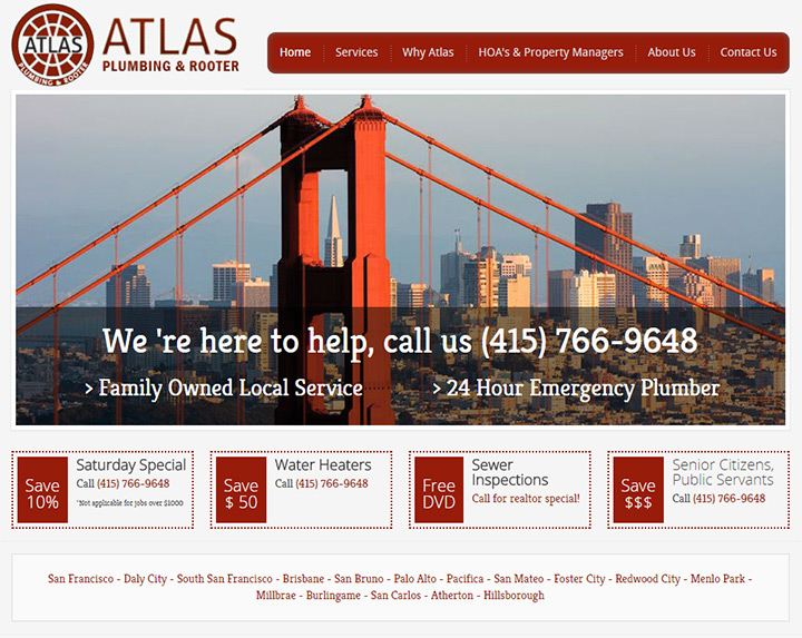 atlas plumbing website