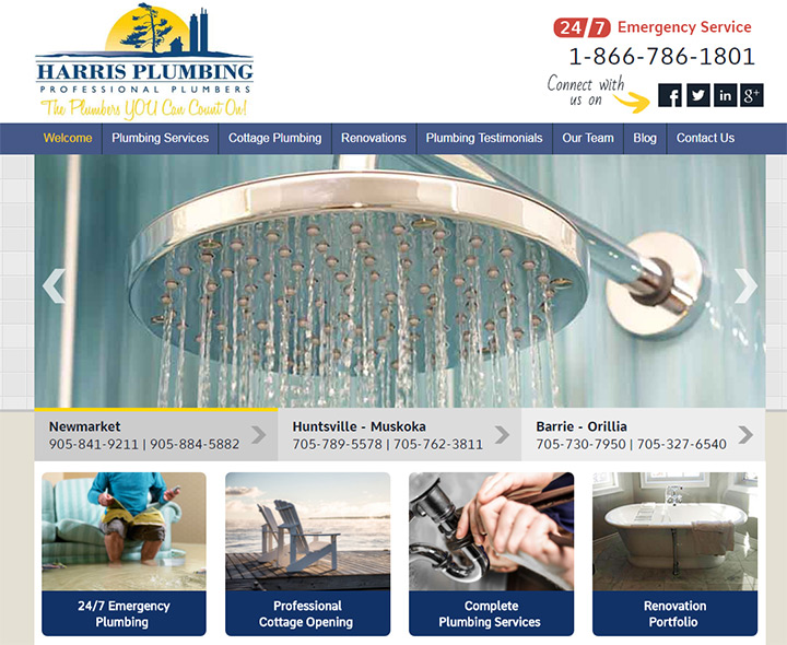 harris plumbing website