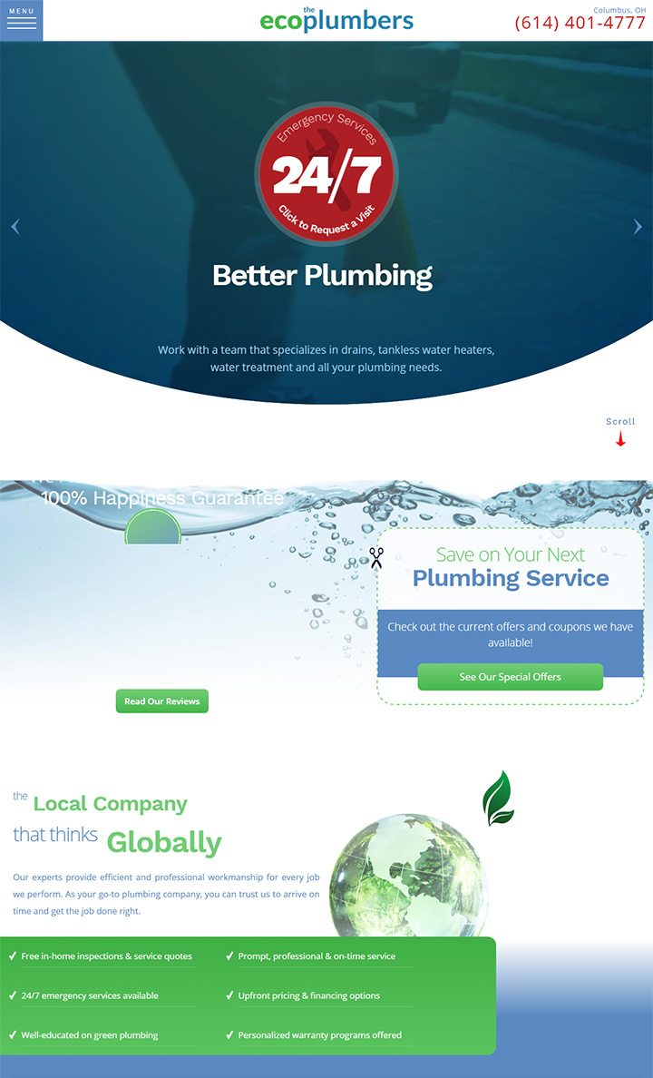 eco plumbers website