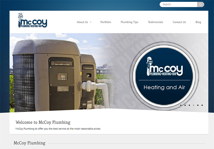 mccoy plumbing website