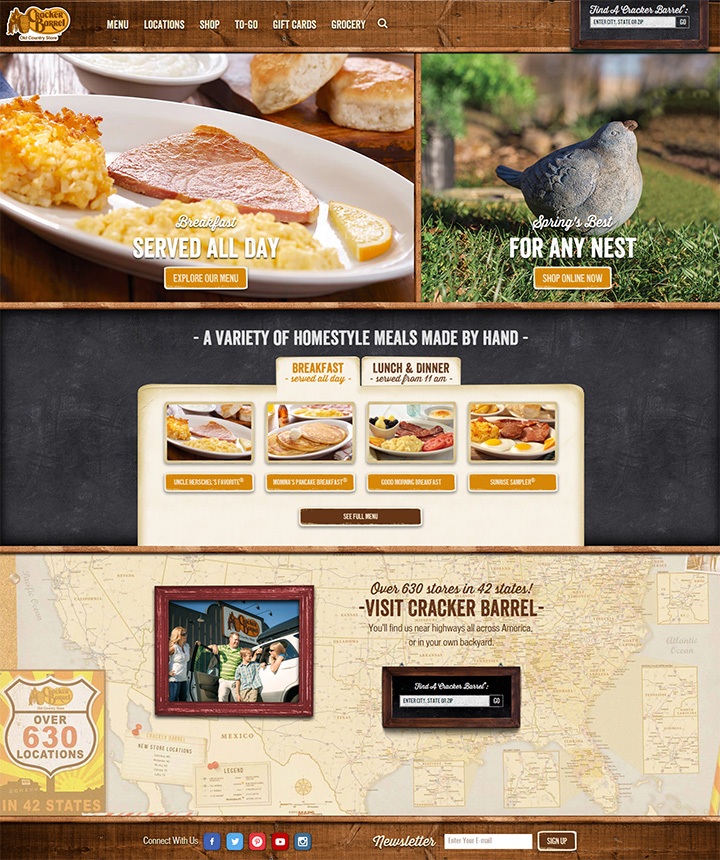 cracker barrel website