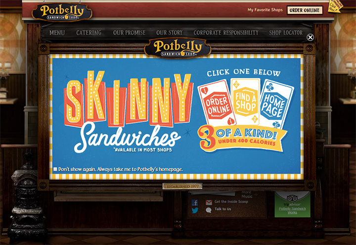 potbelly sandwich website
