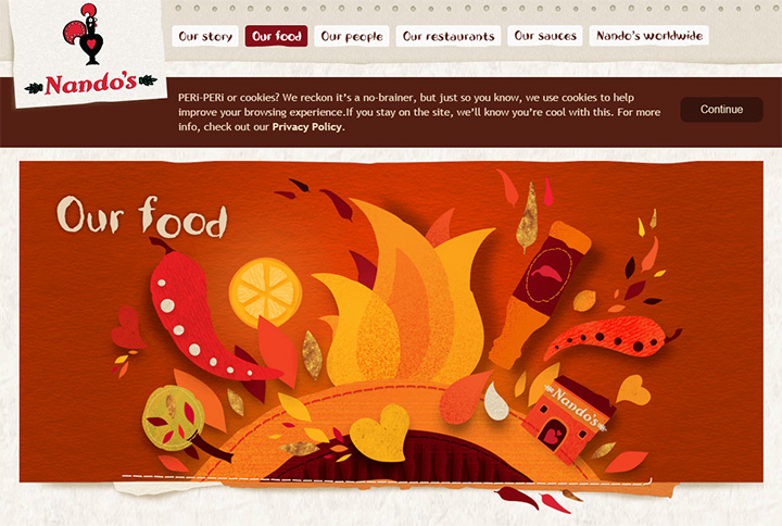 nandos food website