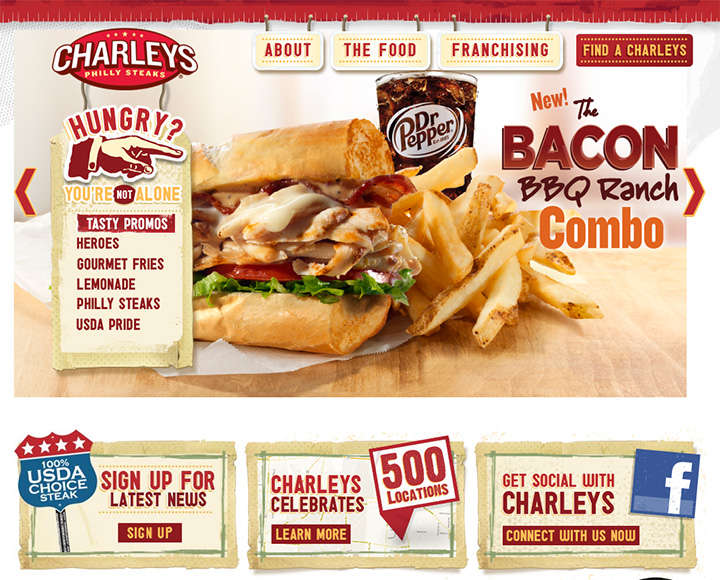 charleys restaurant website