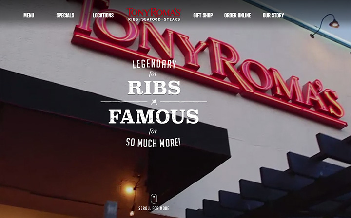 tony romas steakhouse