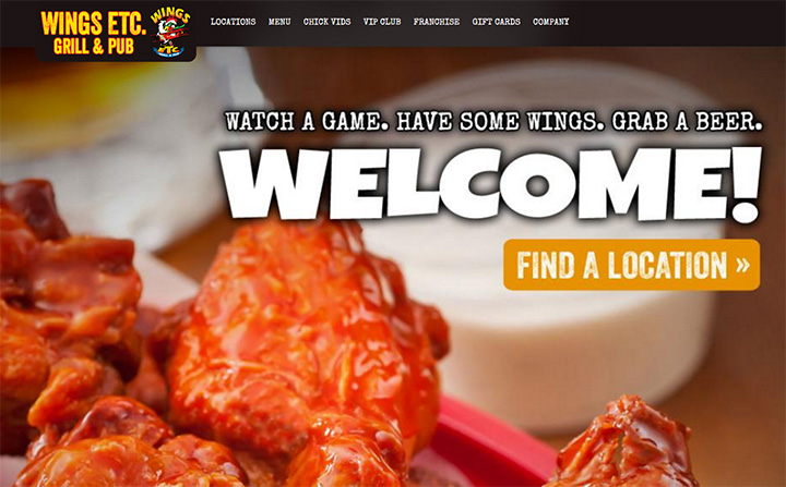 wings etc website
