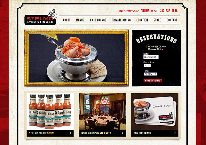 st elmos steakhouse website
