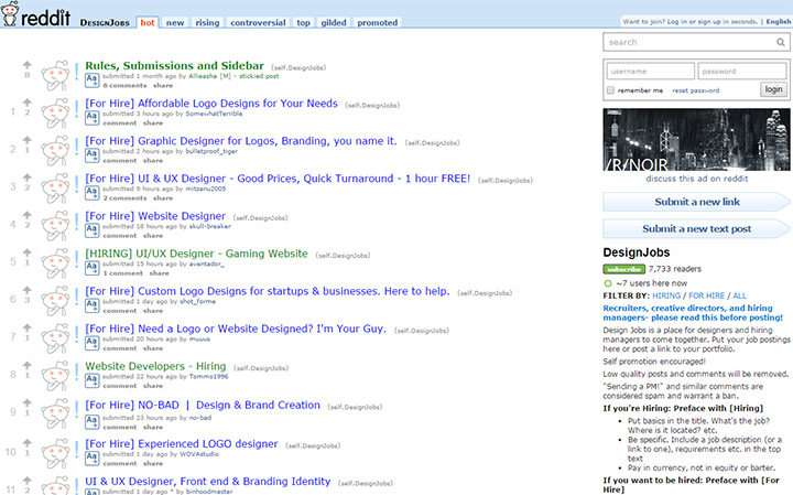 Top 30 Subreddits For Designers