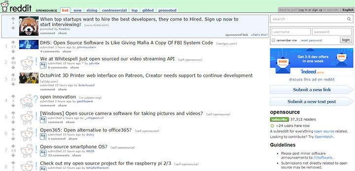 reddit open source community