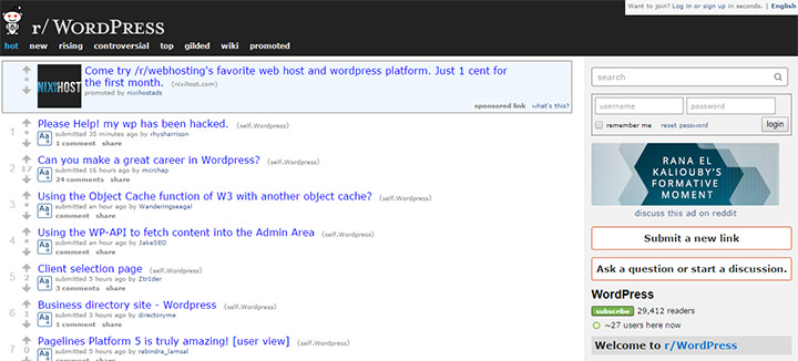 reddit wordpress subreddit