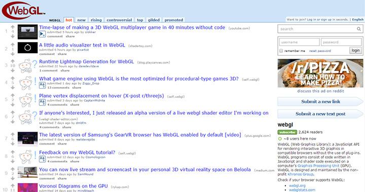 webgl subreddit open source