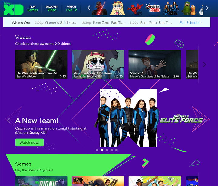 disney xd channel website