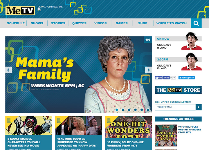metv tv network website