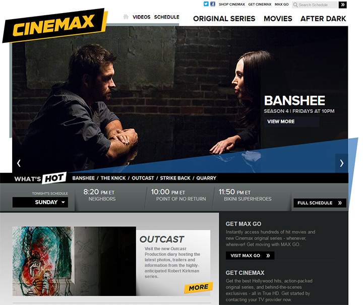 cinemax tv website
