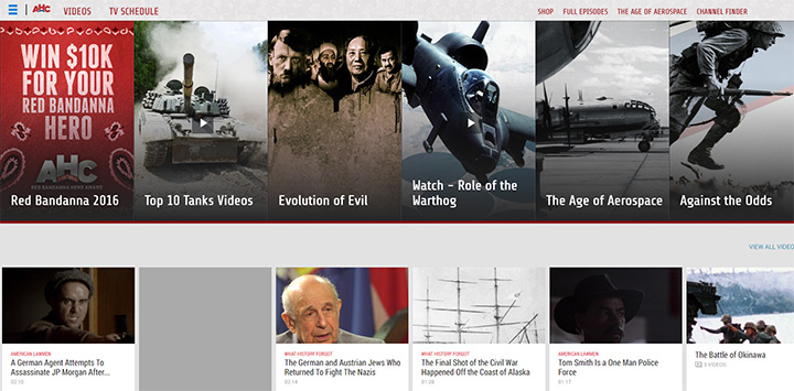 american history channel website