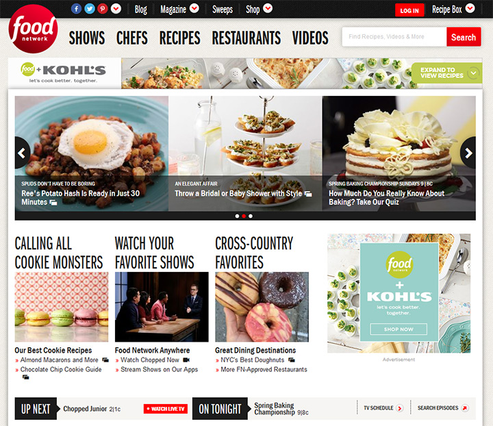 food network website