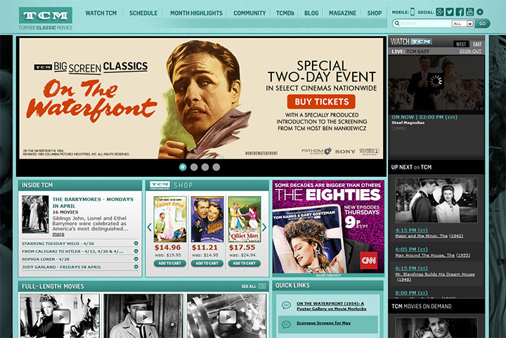 tcm tv channel website