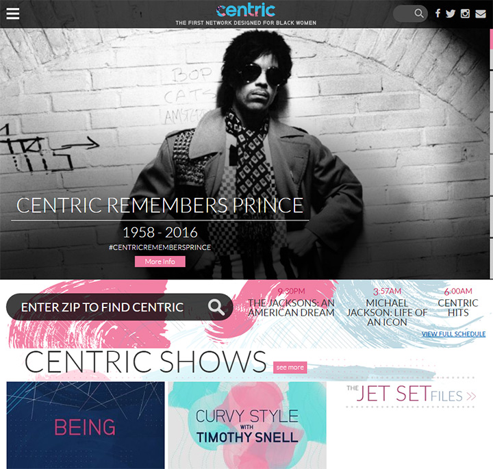 centric tv website