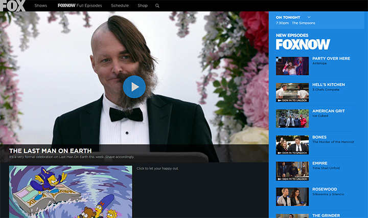 fox tv channel website