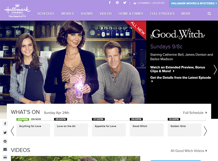 hallmark channel website