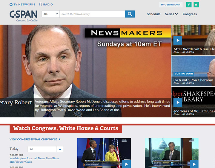 cspan network website