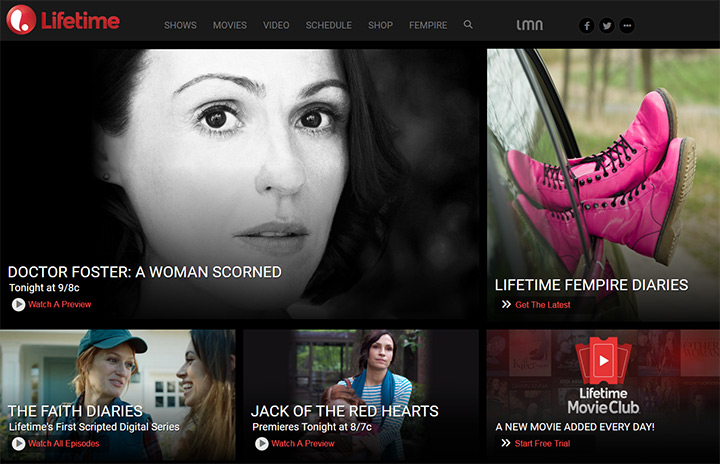 lifetime tv network website