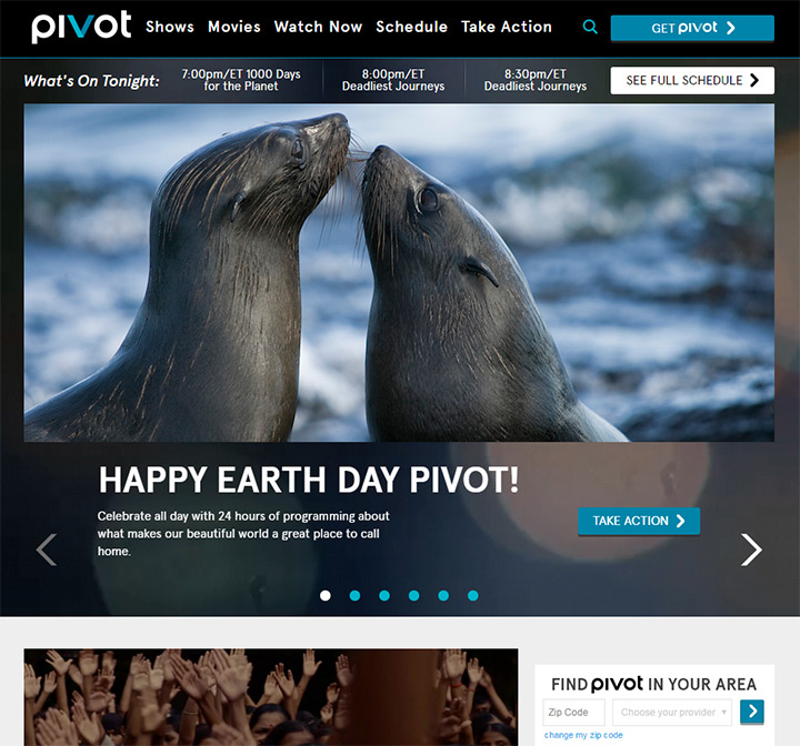 pivot tv website