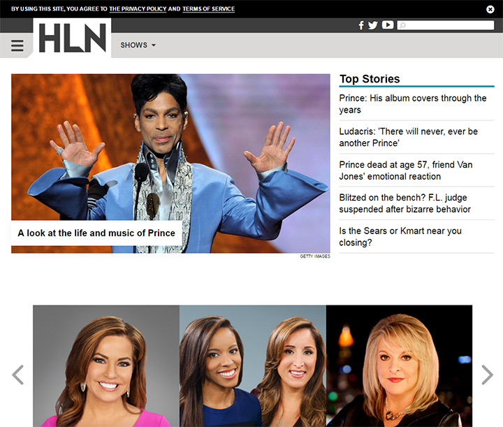 hln tv network website