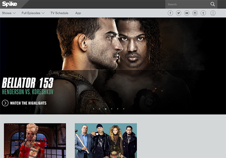 spike tv network website