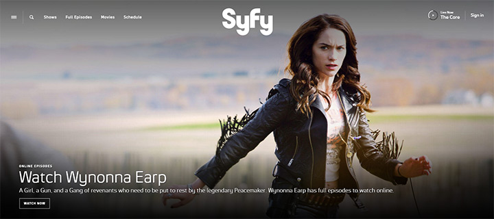 syfy tv network website