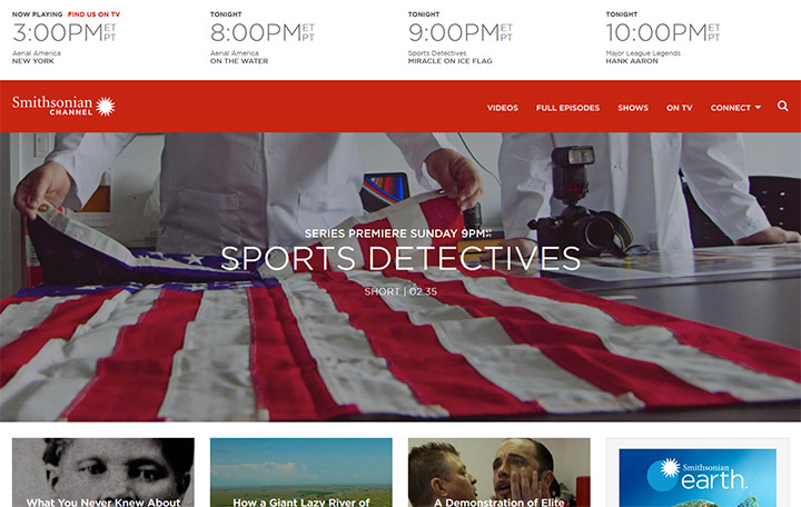 smithsonian tv channel website