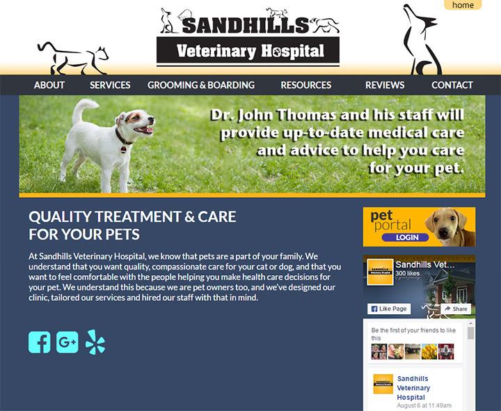 sandhills vet hospital
