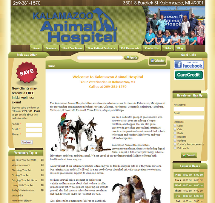 kalamazoo animal hospital