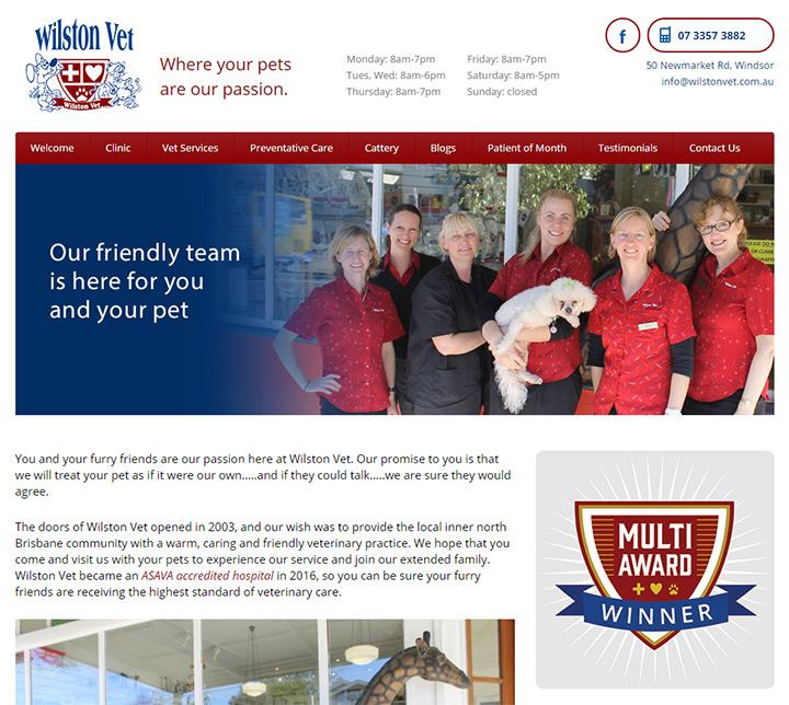 wilston vet homepage