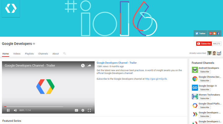 google developers youtube