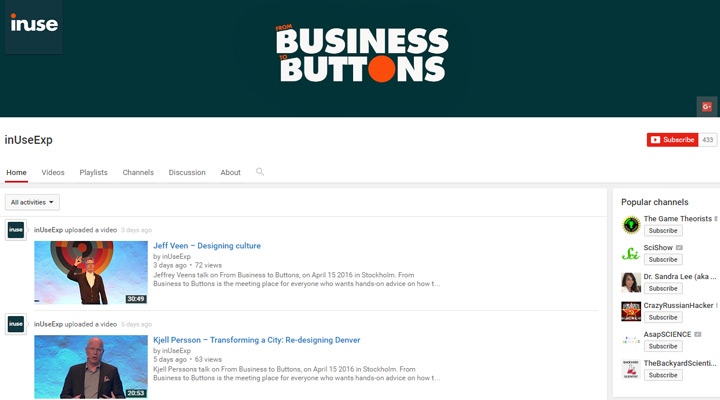 business to buttons youtube channel