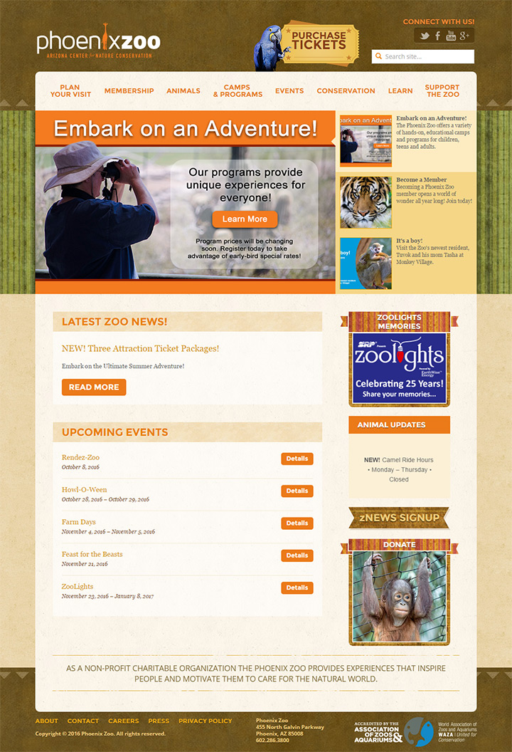 phoenix zoo website