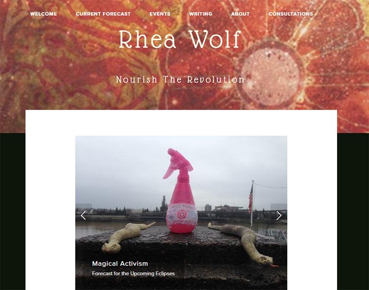 rhea wolf website