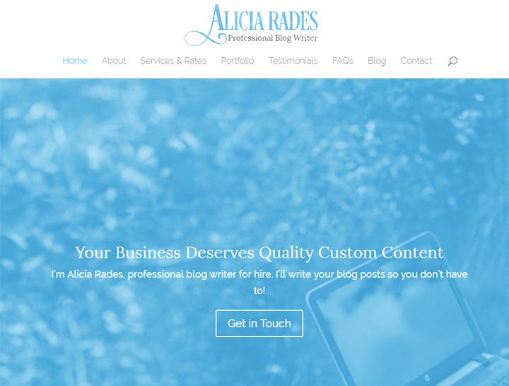 alicia rades writer