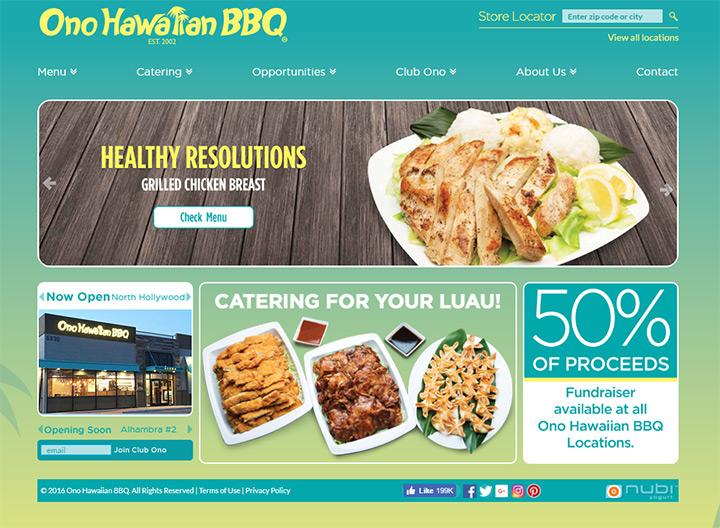 Hawaiian barbecue ono