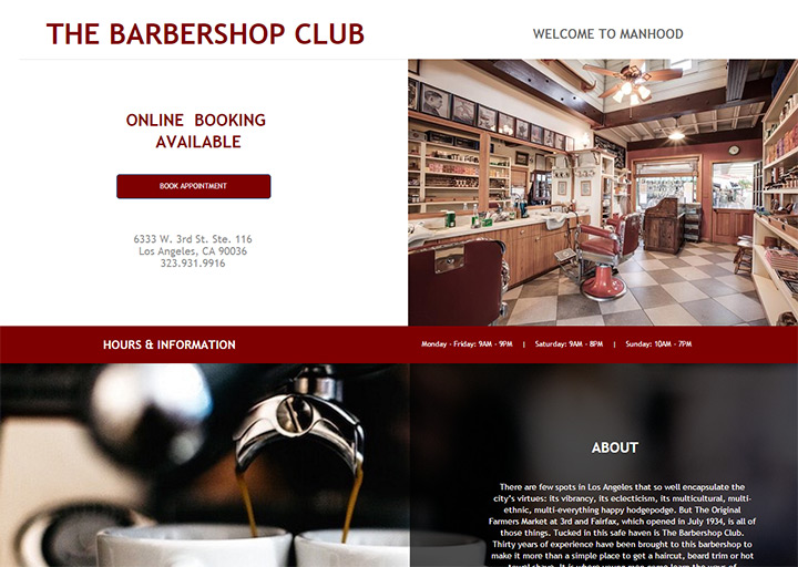 barber shop club