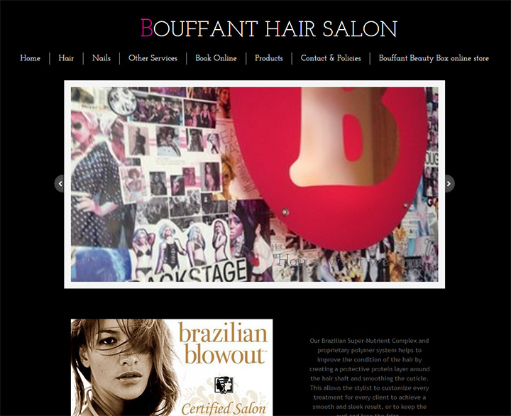 bouffant hair salon