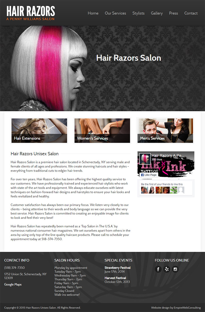 hair razors salon
