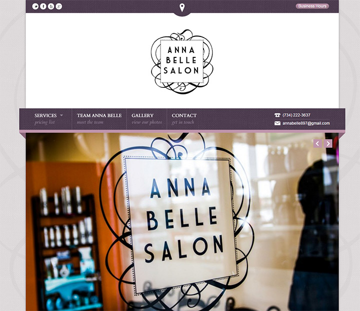 anna bella salon website