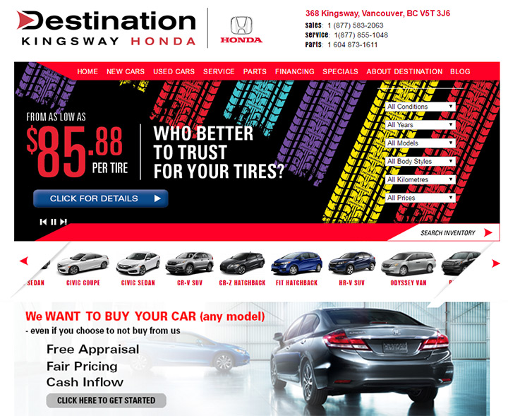 destination kingsway honda
