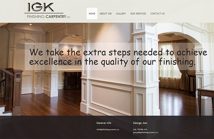 igk finishing carpentry