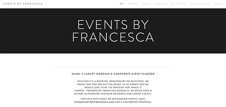 francesca events