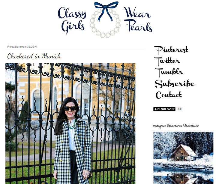 classy girls wear pearls blog