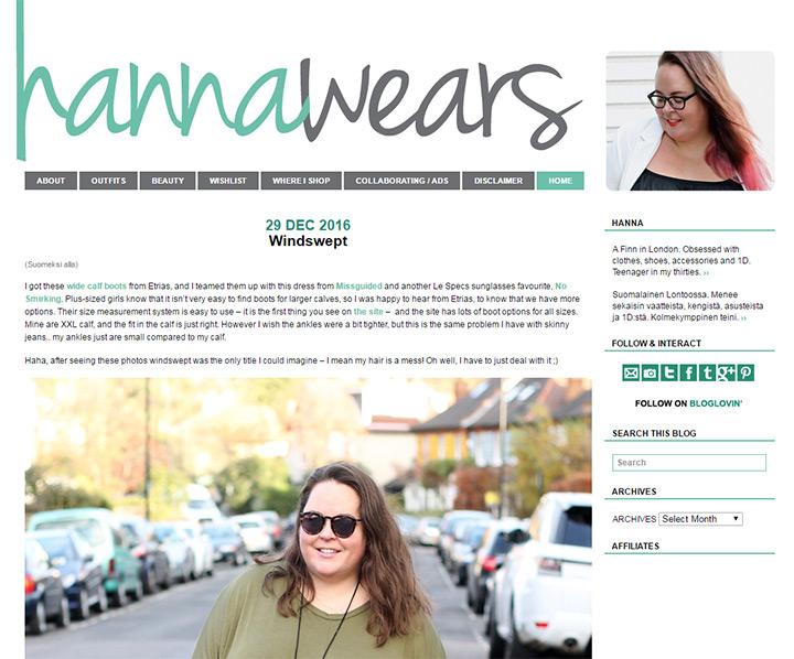 hanna wears blog